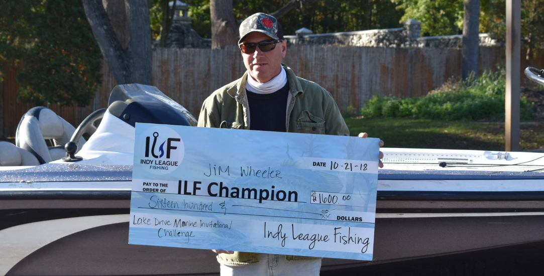 ILF Angler Jim Wheeler 2018 Lake Drive Marine Invitational Champion